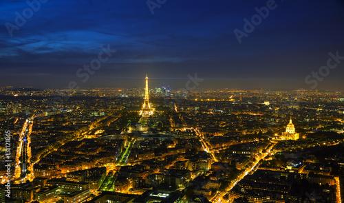 Poster de jardin Paris Cityscape of Paris with the Eiffel tower