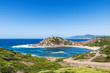 Overview of Porticciolo beach in Sardinia