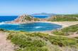 Overview of Porticciolo beach in Sardinia