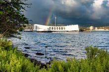 Rainbow Over The USS Arizona A...
