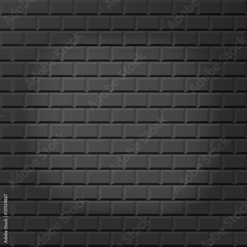 Fototapeta Grey brick wall seamless Vector illustration background - texture pattern for continuous replicate. Stock vector. Flat design. obraz na płótnie