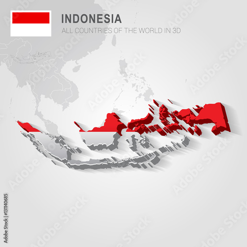 Indonesia and neighboring countries. Asia administrative map ...