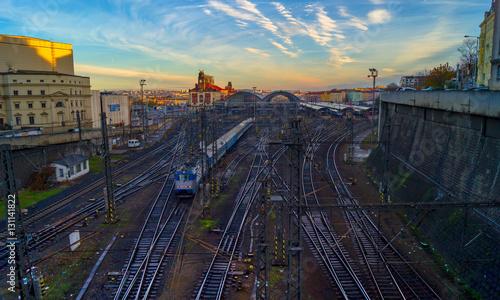 Plakat Dworzec w Pradze. Republika Czeska