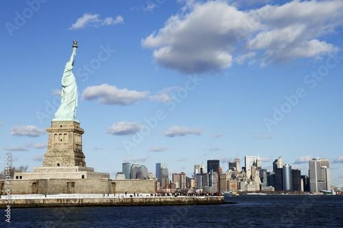Liberty looking after Manhattan - New York - USA