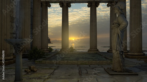 Fotografie, Obraz  Templo de Atenea