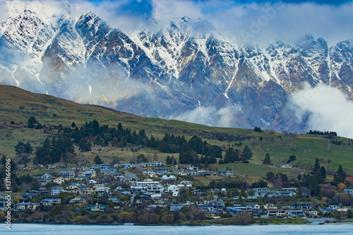 beautiful scenic of lake vakatipu queenstown south island new ze