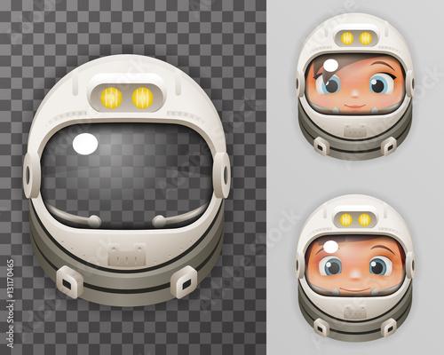 cosmonaut helmet realistic 3d astronaut spaceman boy girl