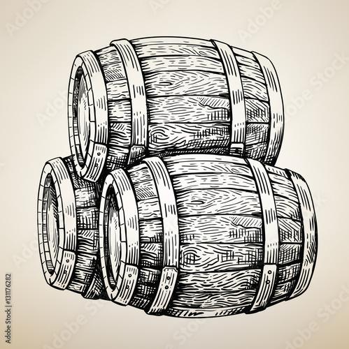 Fotografía Vector wood barrel