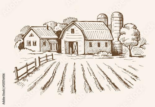 Foto  village and landscape farm