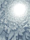 Fototapeta Perspektywa 3d - Abstract vertical digital background, 3d