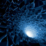 Fototapeta Perspektywa 3d - Abstract 3d square digital background