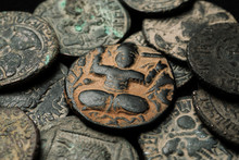 Ancient Islamic Copper Coin In...