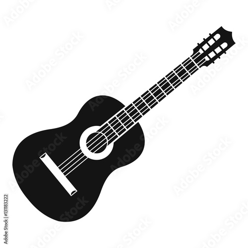 Obraz Guitar icon. Simple illustration of guitar vector icon for web - fototapety do salonu
