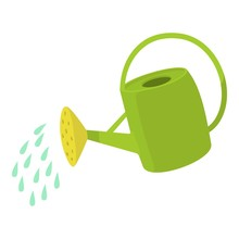Watering Can Icon. Cartoon Ill...