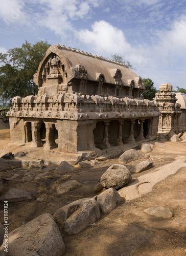 Valokuva  Panch Rathas - Mamallapuram - India