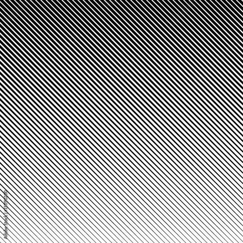 Fototapeta Vector abstract halftone black background. Gradient retro line pattern design. Monochrome graphic obraz na płótnie