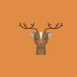 deer icon. flat design