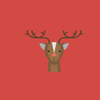 deer icon. flat design