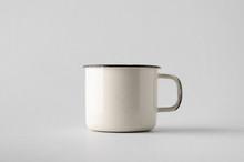 White Enamel Mug Mock-Up