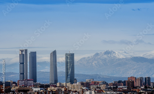 In de dag Madrid Four towers of Madrid