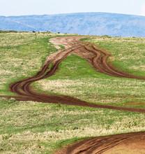 Tourist Road In The Ngorongoro...