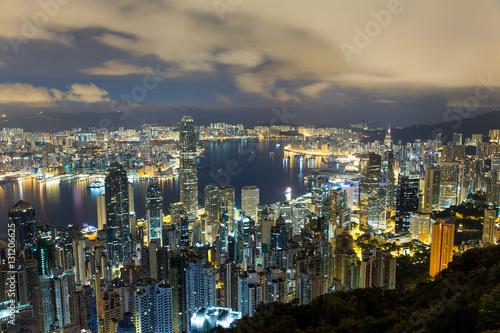Foto op Canvas Seoel Hong Kong skyline
