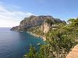 Capri Küste mit Blick auf Anacapri und die blaue Grotte