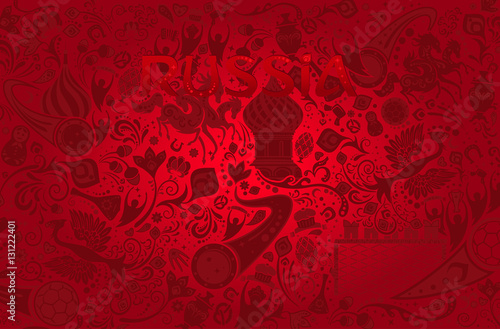 Fotografie, Obraz  Russian red background, vector illustration