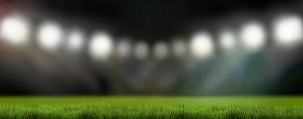 sports stadium lights 3d render background