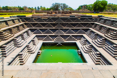 Con. Antique Religious palace, Hampi, Unesco world heritage site, India