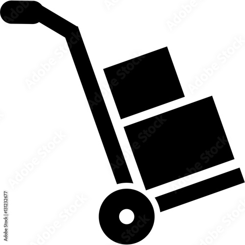 Leinwand Poster Hand truck icon - sack barrow