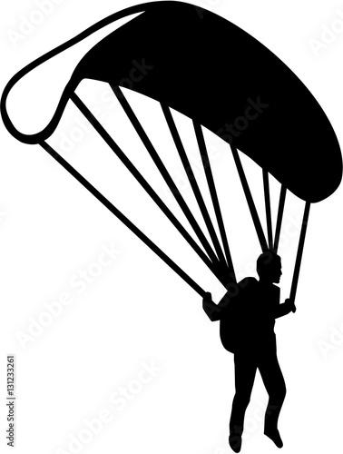 Fotografia Parachuter silhouette