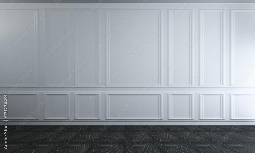 Fototapeta The modern classic interior of empty room