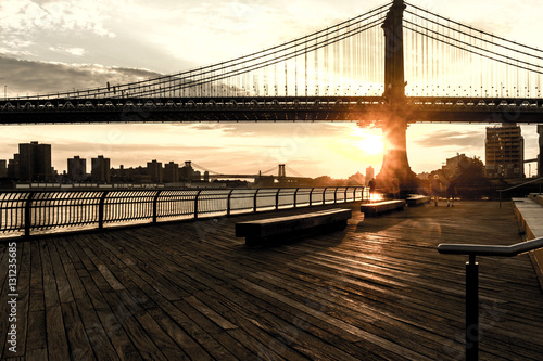 Brooklyn Bridge Sunrise in New York