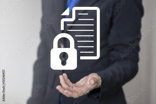 Fotografía  Business computer web security data concept