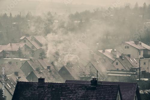 Photo  Dym nad miastem