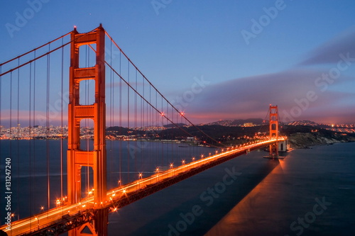 Golden Gate bridge and San Francisco Poster
