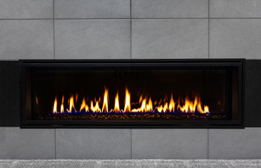 Modern gas fireplace