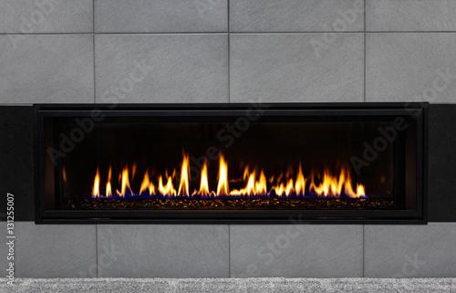 Obraz na plátně Modern gas fireplace