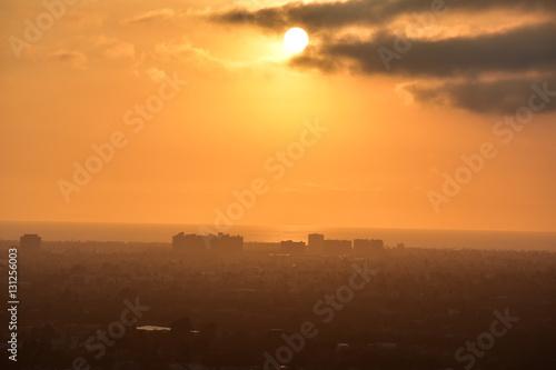 Foto  Baldwin Hills Overlook Sunset