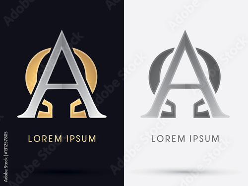 Alpha and Omega sign graphic vector. Wallpaper Mural