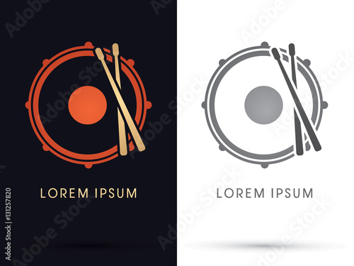 Fotografia Drum, Snare graphic vector.