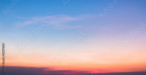 Fototapeta Sunset sky background obraz na płótnie