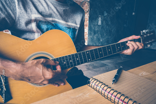 guitar composion Canvas Print