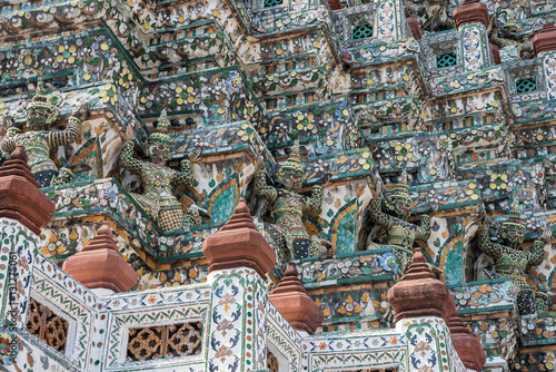 Architecture detail buddhist temple in bangkok Wallpaper Mural
