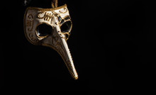 Plague Mask Hanging Isolated O...