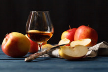 Glasse Of Calvados Brandy And ...