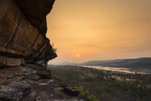 Cliff At Sunrise, Pha Taem National Park, Ubon Ratchathani, Thailand