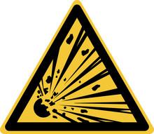 ISO 7010 W002 Warning; Explosi...