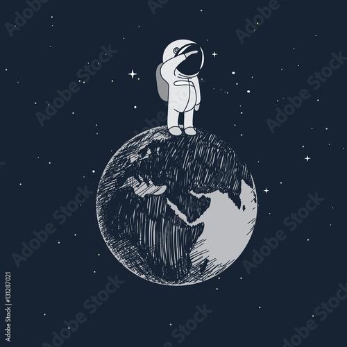 kreskowka-maly-astronauta-stojacy-na-ziemi